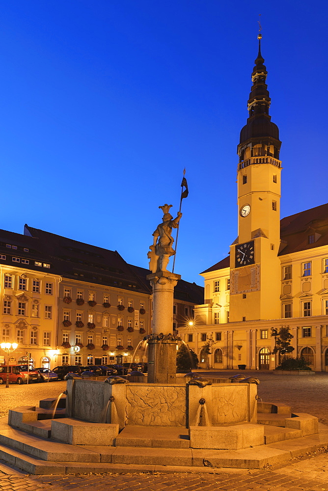 Town Hall at Hauptmarkt Square, Bautzen, Upper Lusatia, Saxony, Germany - 1160-4063