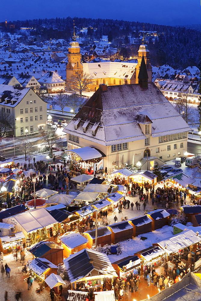 Christmas market, Freudenstadt, Black Forest, Baden-Wuerttemberg, Germany