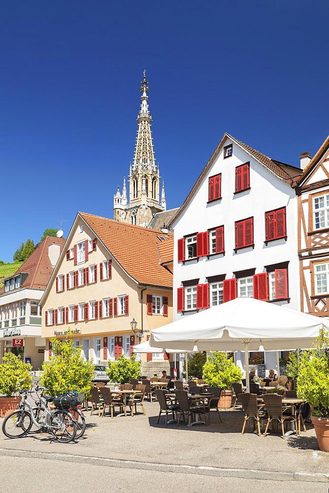 Frauenkirche church at market place, Esslingen, Baden-Wurttemberg, Germany, Europe