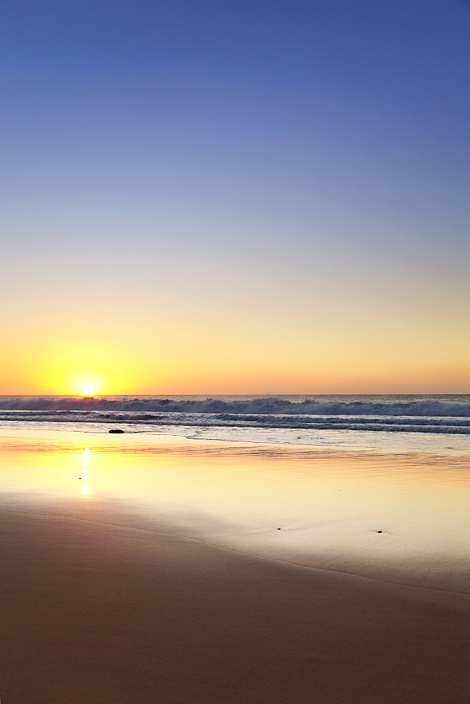 The beach Playa del Castillo at sunset, El Cotillo, Fuerteventura, Canary Islands, Spain, Atlantic, Europe