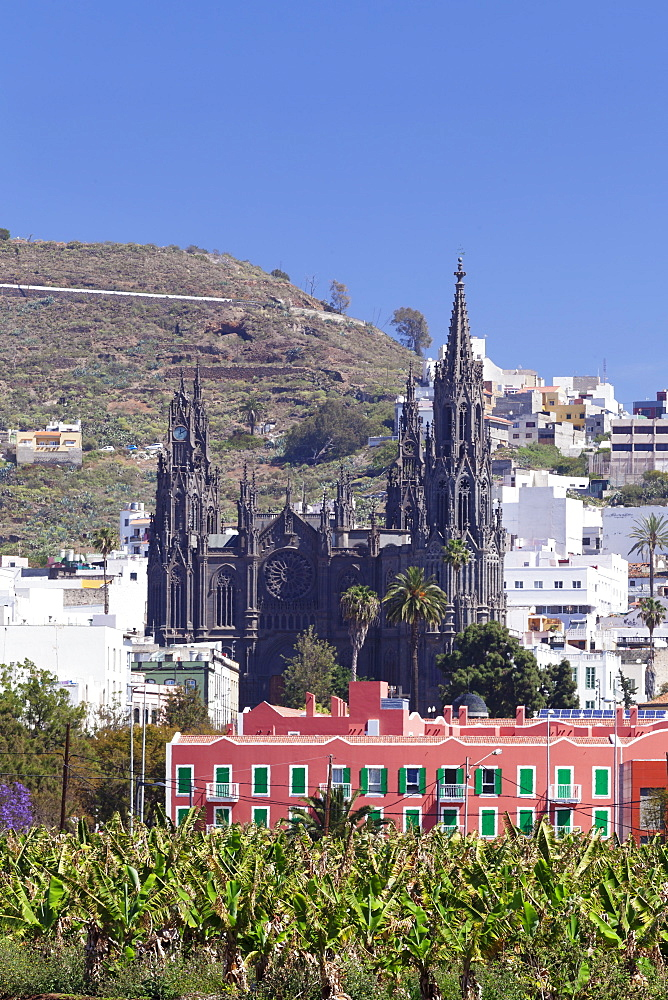 Cathedral Iglesia de San Juan de Bautista, Arucas, Gran Canaria, Canary Islands, Spain, Europe