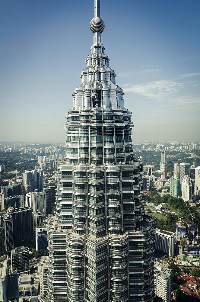 Petronas Tower I (452m), Kuala Lumpur, Malaysia. - 1163-14