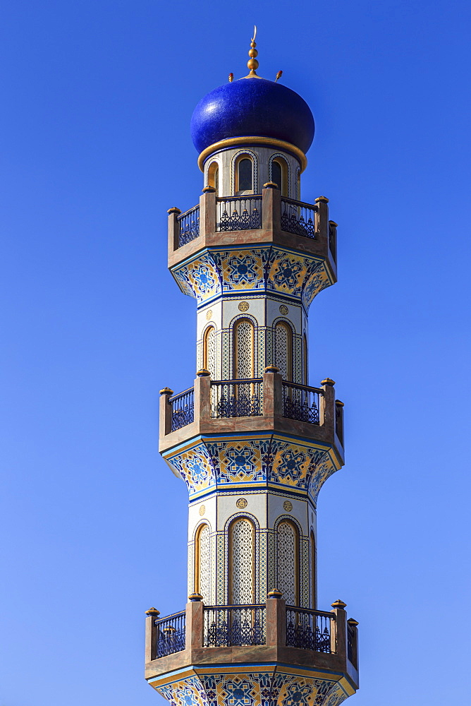 Minaret, Al-Husn, Sultan's Palace, Salalah, Dhofar Region, Southern Oman, Middle East