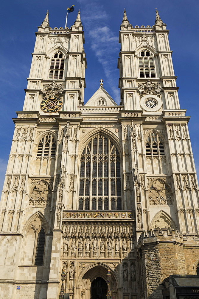 West Front, Westminster Abbey, London, England, United Kingdom, Europe