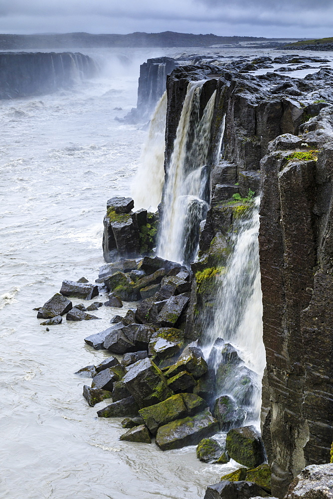 Selfoss waterfall, Jokulsa a Fjollum river, Jokulsargljufur Canyon, Vatnajokull National Park, Diamond Circle, North Iceland