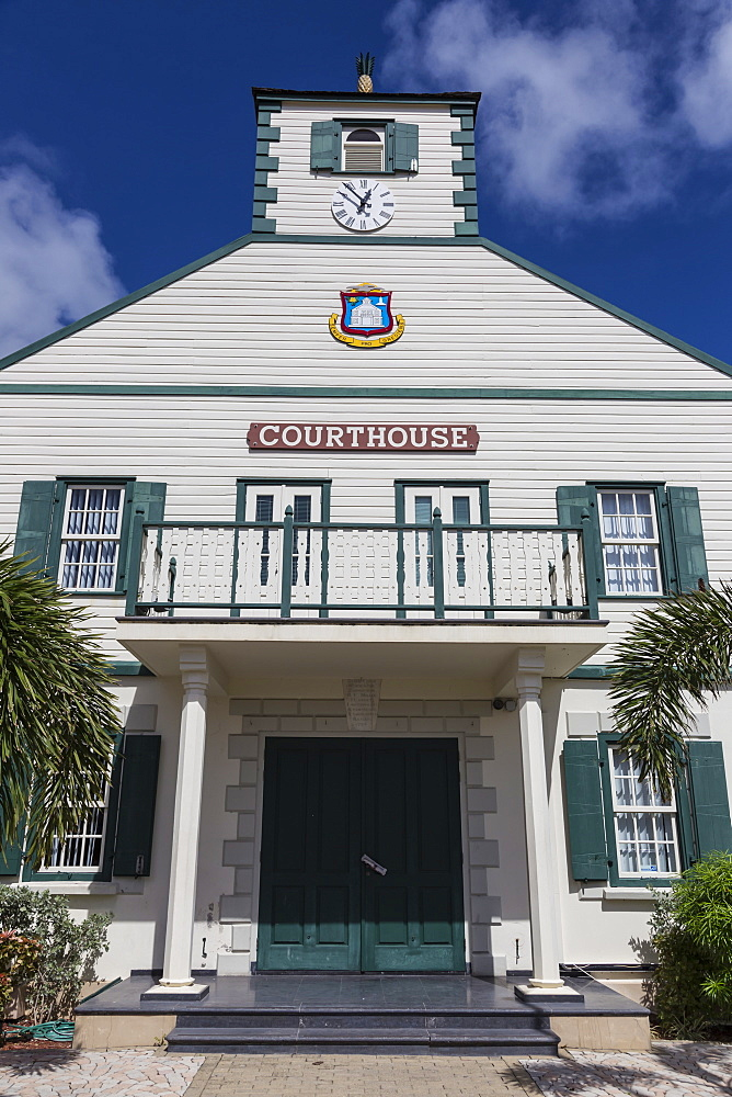 Courthouse, Philipsburg, St. Maarten (St. Martin), West Indies, Caribbean, Central America
