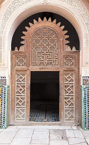 Medersa Ali Ben Youssef (Madrasa Bin Yousuf), Medina, UNESCO World Heritage Site, Marrakesh,  Morocco, North Africa, Africa - 1170-115