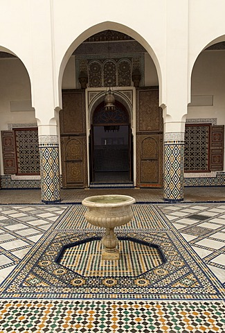 Courtyard, Museum of Marrakech, Medina, Marrakesh, Morocco, North Africa, Africa - 1170-120