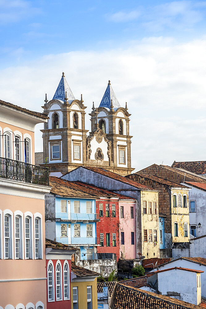 View of the historical centre of Salvador, UNESCO World Heritage Site, Bahia, Brazil, South America - 1176-1074