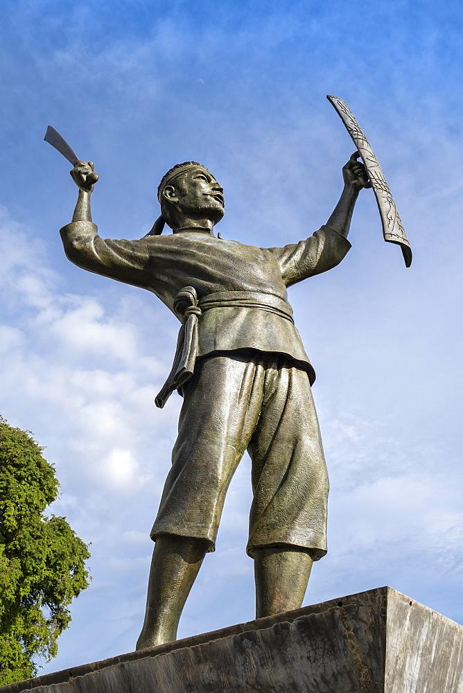 Indonesia, Ambon, Saparua. Pattimura monument, celebrating Thomas Matulessy or Pattimura who rebelled against the Dutch in 1817