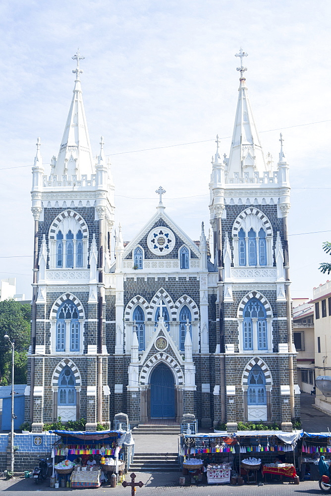 Basilica of Our Lady of the Mount (Mount Mary Church), a Catholic church located in the heart of the Goan community in Bandra, Mumbai, Maharashtra, India, Asia