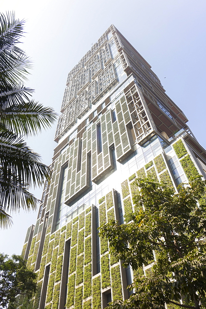 Antilia, the Ambani building, most expensive private property in the world, Mumbai, Maharashtra, India, Asia