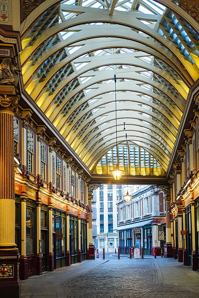 Leadenhall Market by Victorian architect Horace Jones, London, England, United Kingdom, Europe - 1176-817