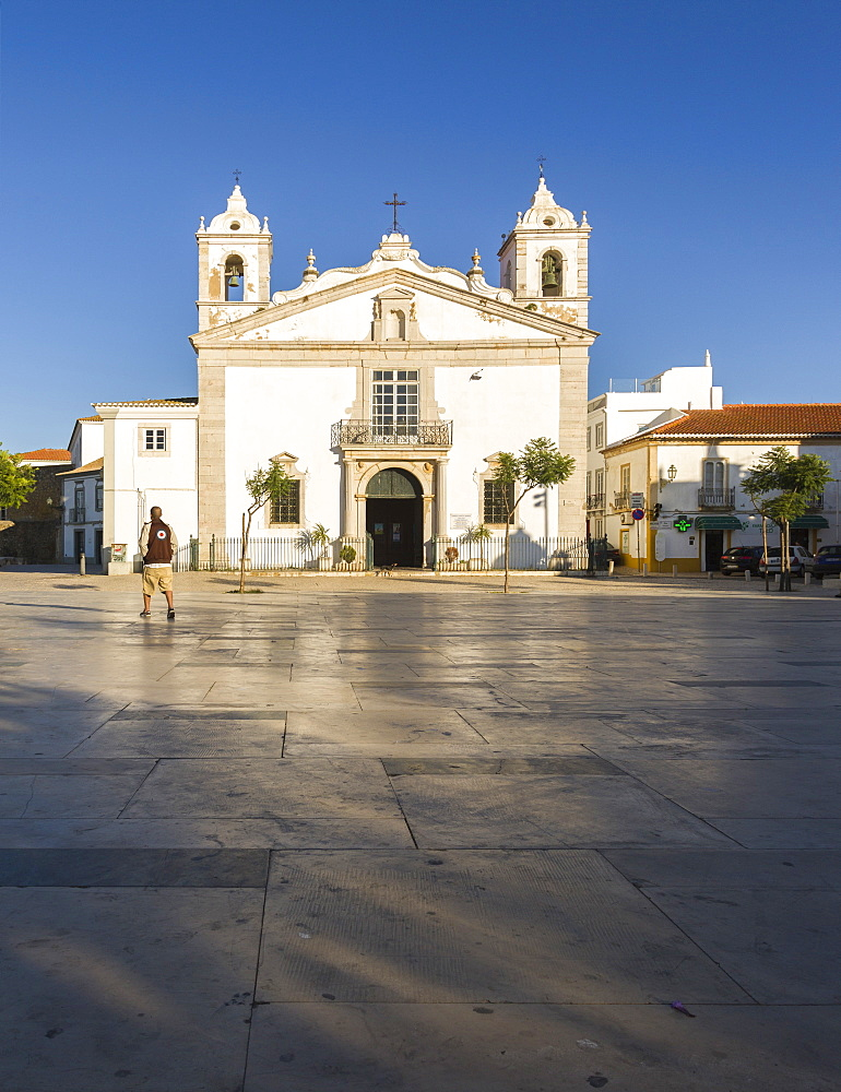 View of the Church of Santa Maria located in the city of Lagos, Faro district, Algarve, Portugal, Europe