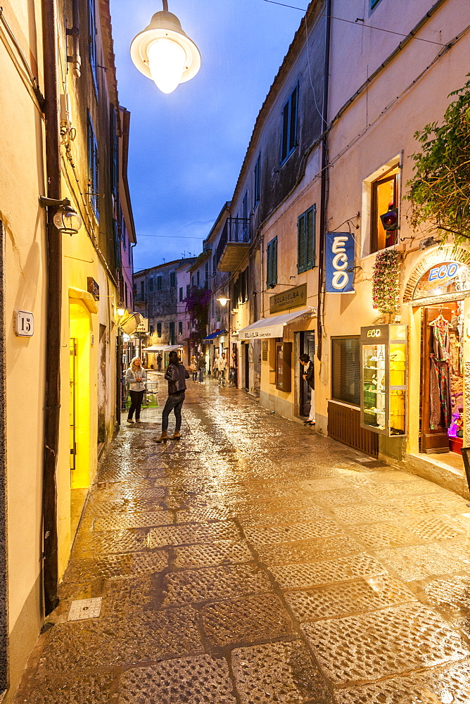 Shops in the old town, Capoliveri, Elba Island, Livorno Province, Tuscany, Italy - 1179-2630