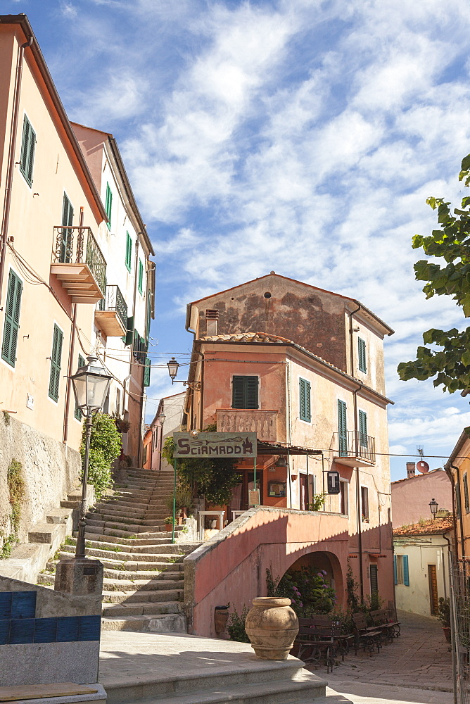 Old town of the village of Poggio, Marciana, Elba Island, Livorno Province, Tuscany, Italy - 1179-2656