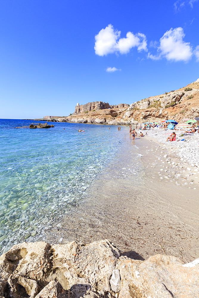 Beach of Bue Marino, San Vito Lo Capo, province of Trapani, Sicily, Italy