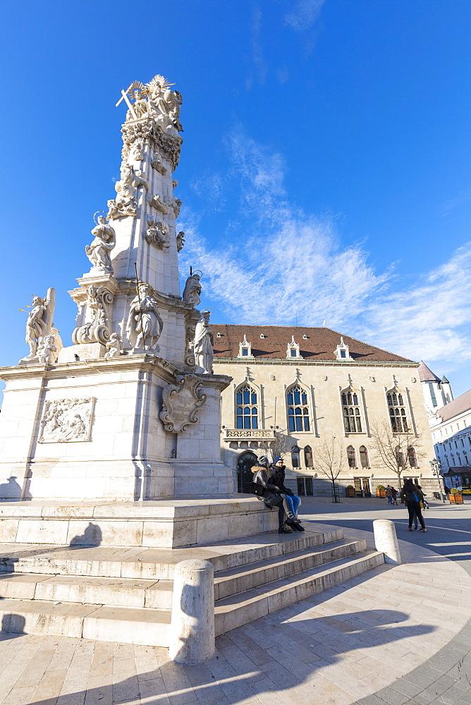 Holy Trinity Statue, Trinity Square, Budapest, Hungary, Europe