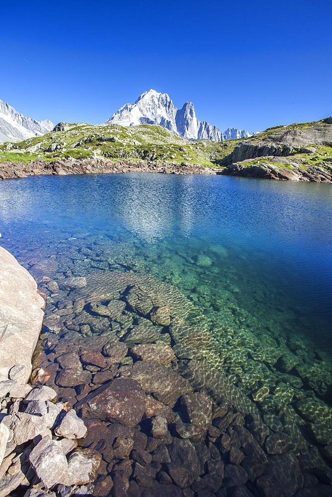Lac des Cheserys, Aiguille Verte, Haute Savoie, French Alps, France, Europe
