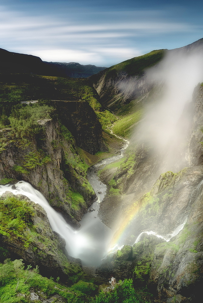 Voringsfossen waterfall, Eidfjord, Hordaland county, Norway, Scandinavia, Europe