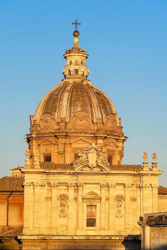 Dome of San Giuseppe dei Falegnami church, Imperial Forum (Fori Imperiali), Rome, Lazio, Italy - 1179-4304