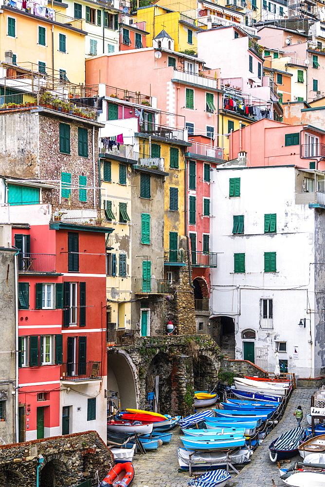 Riomaggiore, Cinque Terre, La Spezia province, Liguria, Italy - 1179-4333