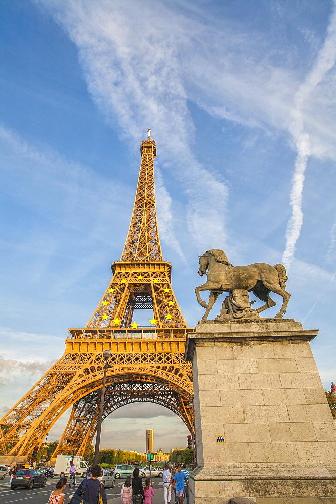 The Eiffel Tower, Champ de Mars, Paris, France, Europe