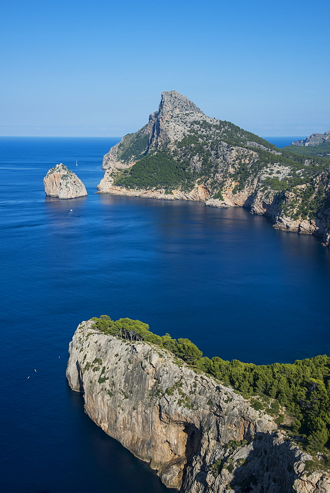 Beautiful view over the cliffs of Cap Formentor, Mallorca, Balearic Islands, Spain, Mediterranean, Europe