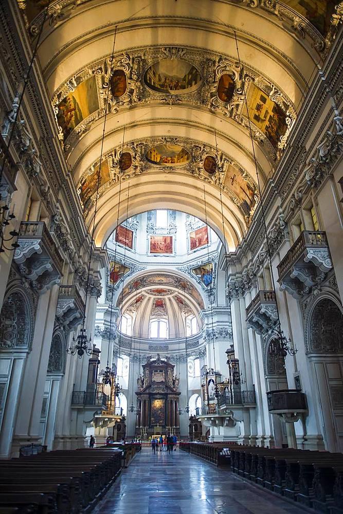 Interior of Salzburg Cathedral, Salzburg, Austria, Europe