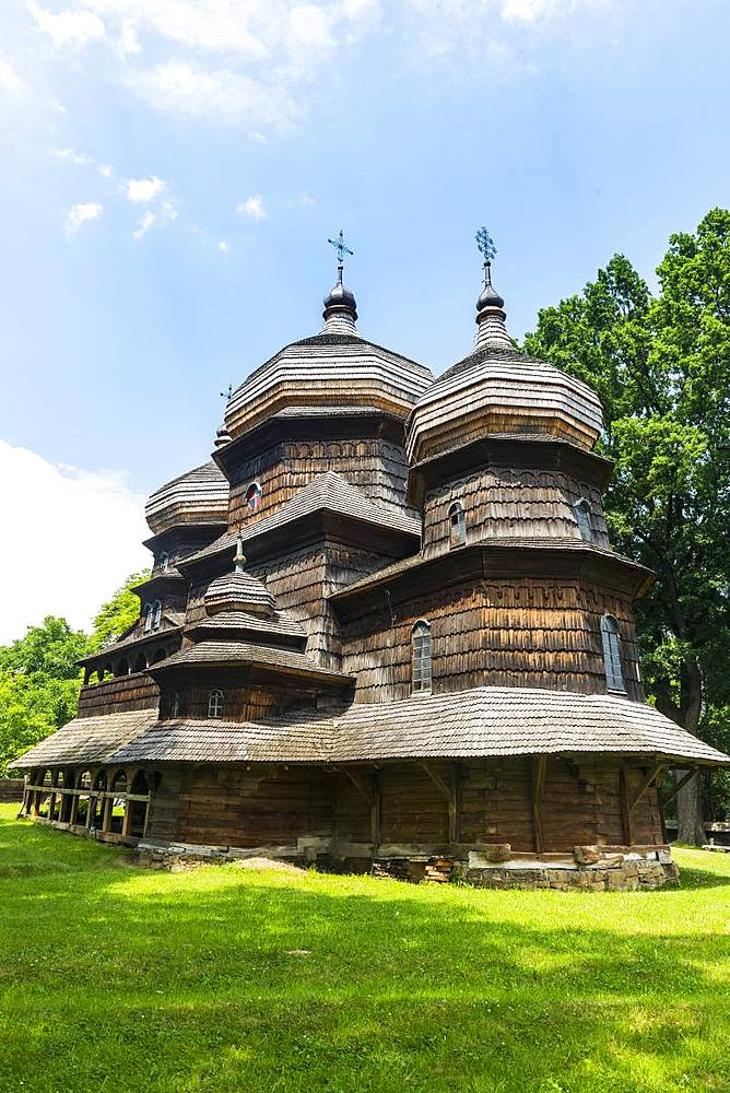Unesco world heritage sight the wooden St. George's Church, Drohobych, Ukraine - 1184-2544