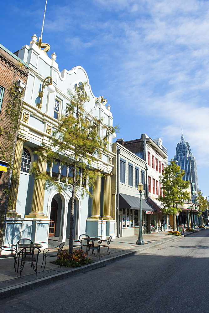 Historical buildings in downtown Mobile, Alabama, United States of America, North America