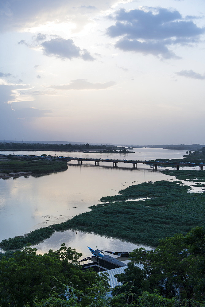 Niger river at sunset, Niamey, Niger