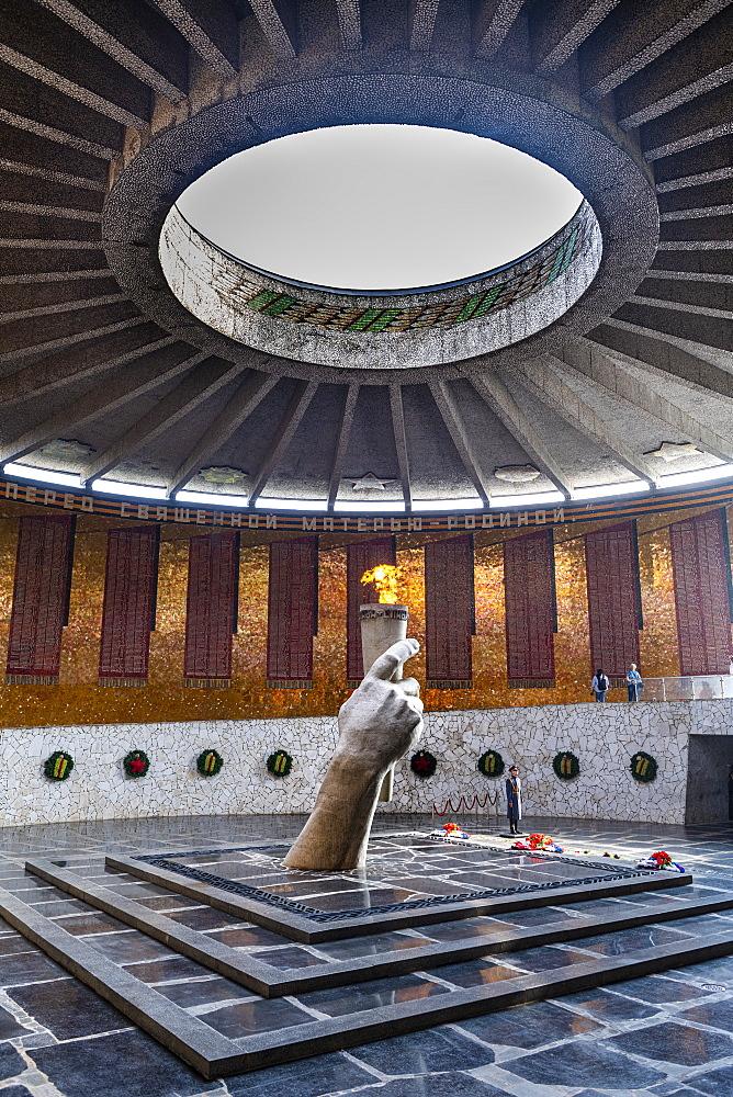 Eternal flame on Mamayev Kurgan, Volgograd, Volgograd Oblast, Russia