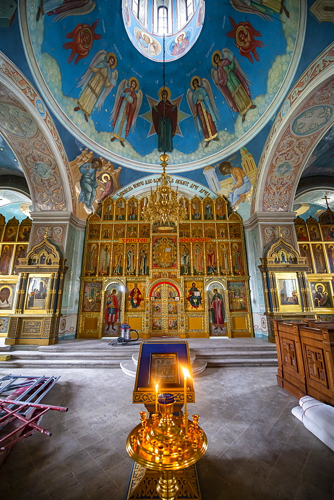 Interior of the Cathedral of Kolomna, Moscow Oblast, Russia, Eurasia