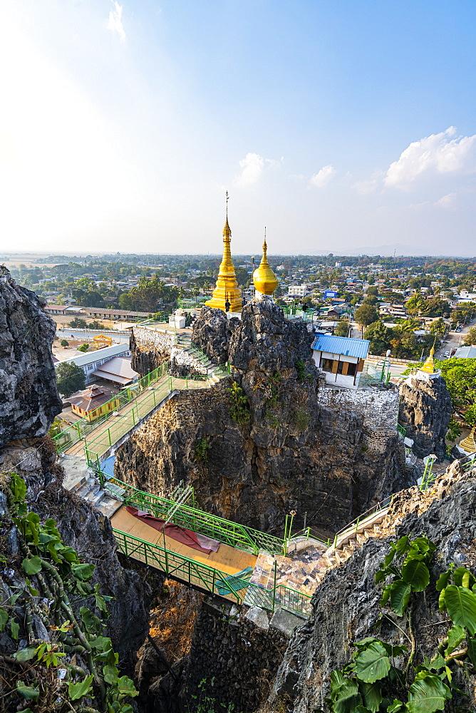 Taung Kew Paya built on rocks, Loikaw, Kayah state, Myanmar (Burma), Asia
