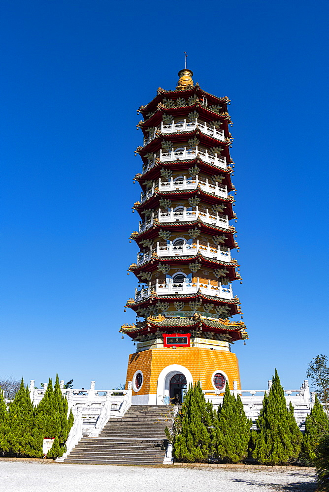 Ci'en Pagoda, Sun Moon Lake, National Scenic Area, Nantou county, Taiwan, Asia