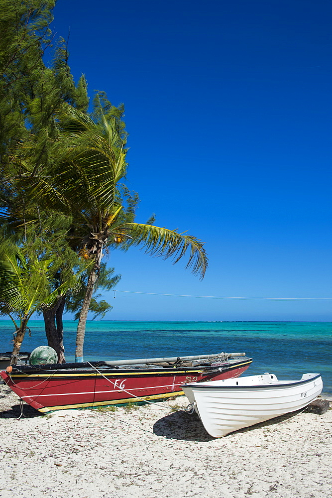 Little fishing boats, Providenciales, Turks and Caicos, Caribbean, Central America