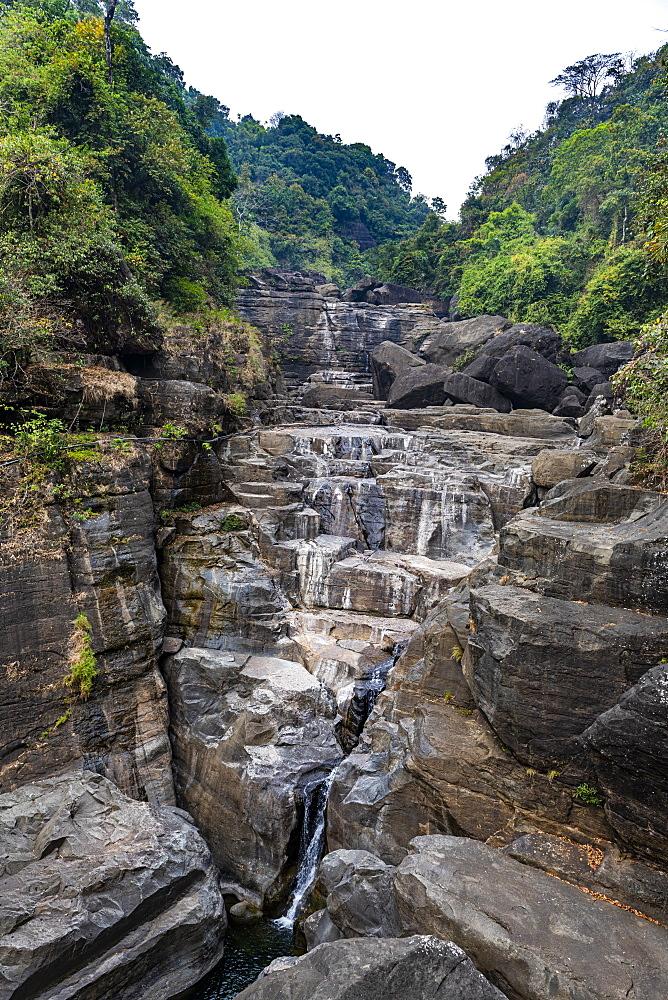 Pantumai Waterfall, Khasi hills, Meghalaya, India