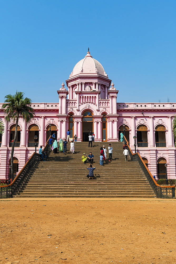 Entrance of the Pink Palace, Ahsan Manzil, Dhaka, Bangladesh, Asia