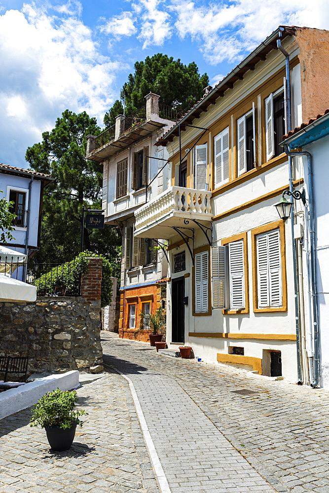 Old Ottoman houses, Xanthi, Thrace, Greece, Europe