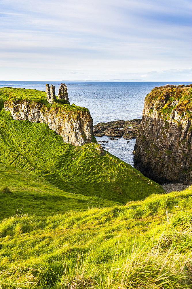 Dunseverick Castle near the Giants Causeway, County Antrim, Ulster, Northern Ireland, United Kingdom, Europe