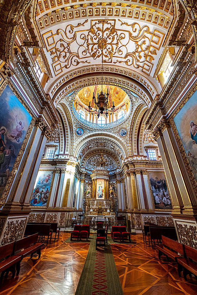 Interior of the Monastery Franciscano de Nuestra Senora de Guadalupe, UNESCO World Heritage Site, Zacatecas, Mexico, North America - 1184-5590