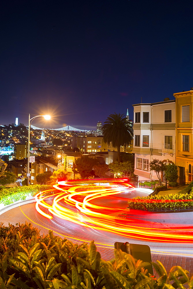 Lombard Street, San Francisco, California, United States of America, North America