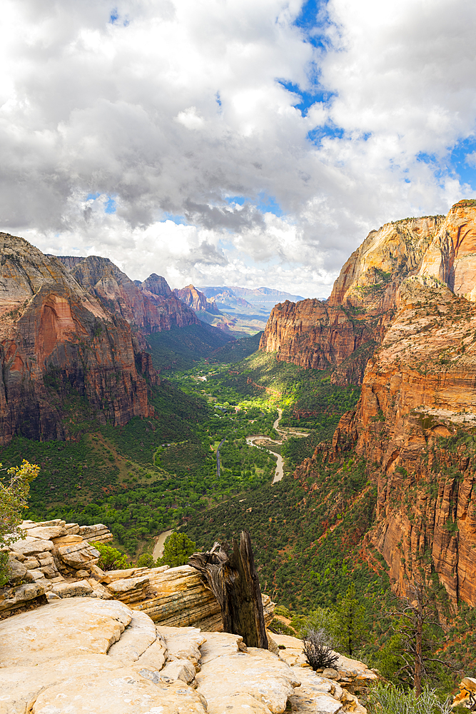 View down Zion Canyon from Angels Landing