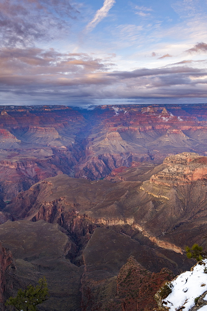 Sunset over Grand Canyon South Rim, UNESCO World Heritage Site, Arizona, United States of America, North America