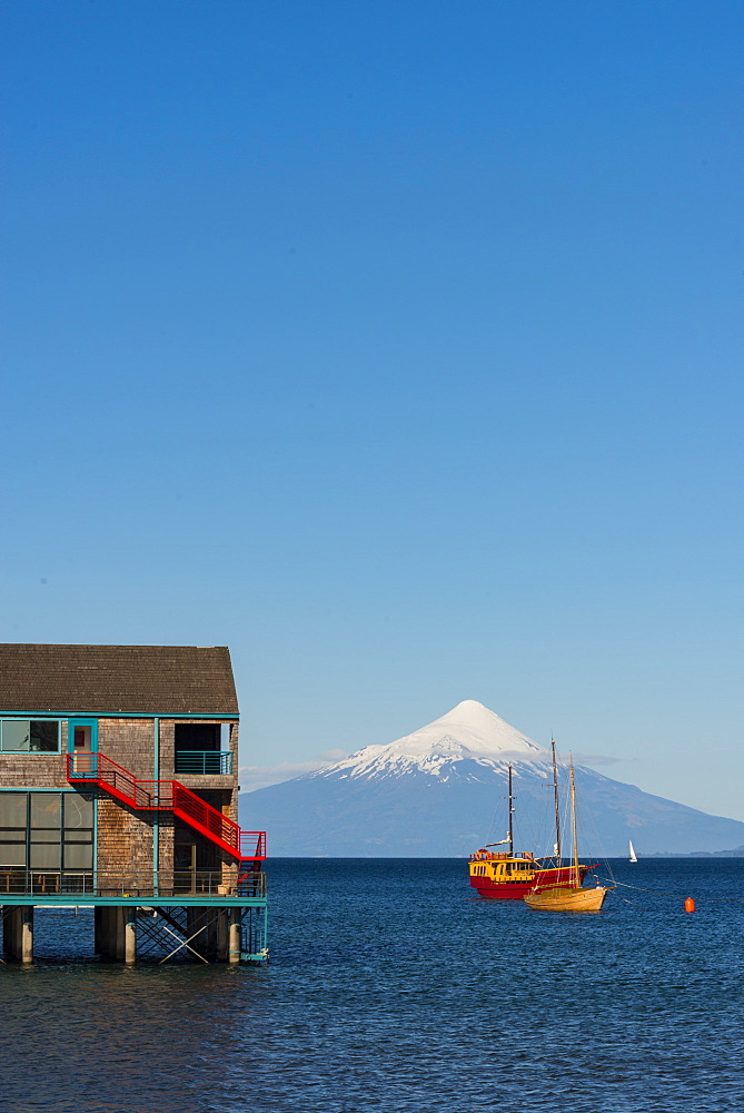 Llanquihue and Volcan Osorno, Puerto Varas, Chilean Lake District, Los Lagos, Chile