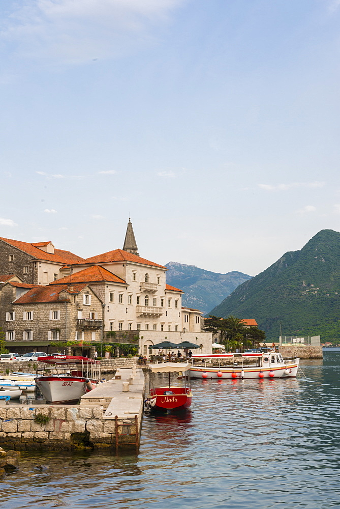 Perast old town, UNESCO World Heritage Site, Bay of Kotor, Montenegro, Europe