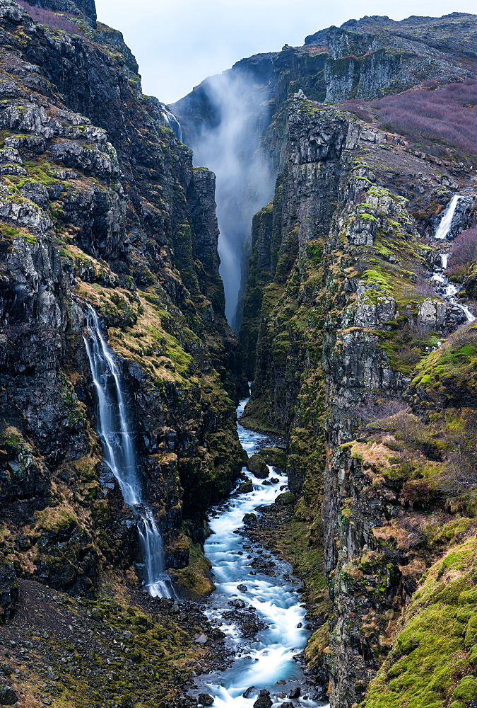 Glymur Waterfall, Iceland, Polar Regions - 1199-450