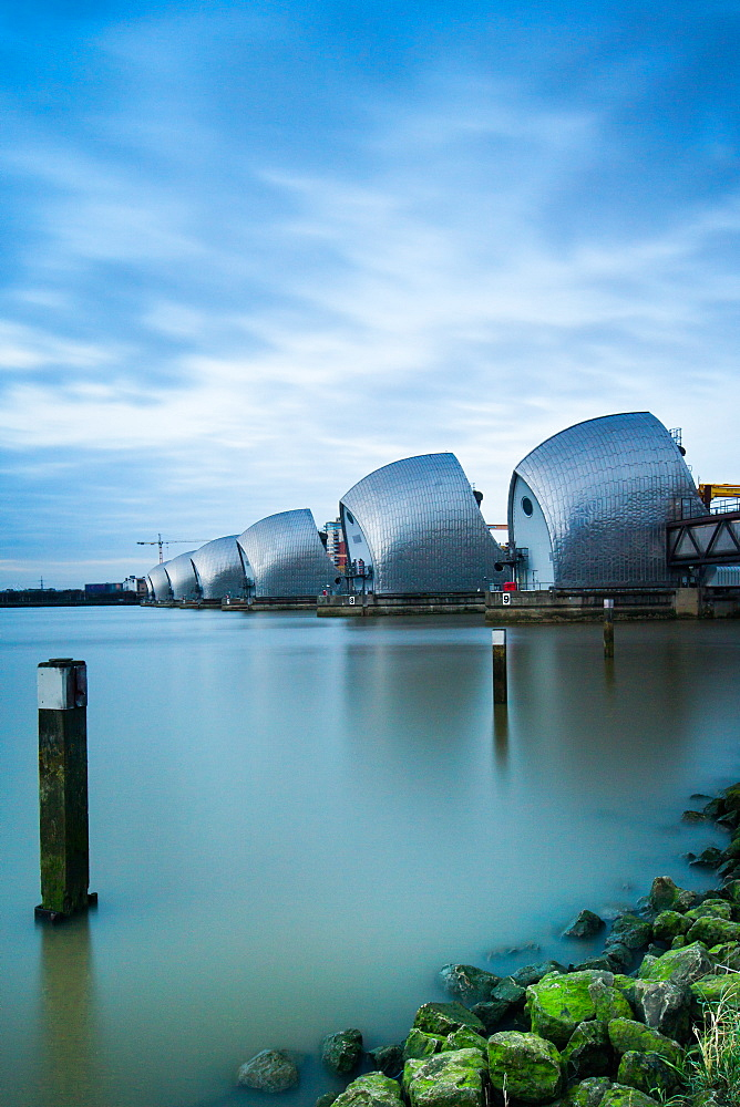 Thames Barrier on the River Thames, London, England, United Kingdom, Europe