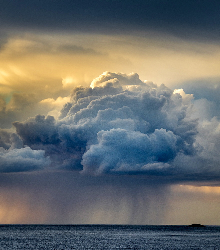 Rain cloud, Senja, Norway, Scandinavia, Europe